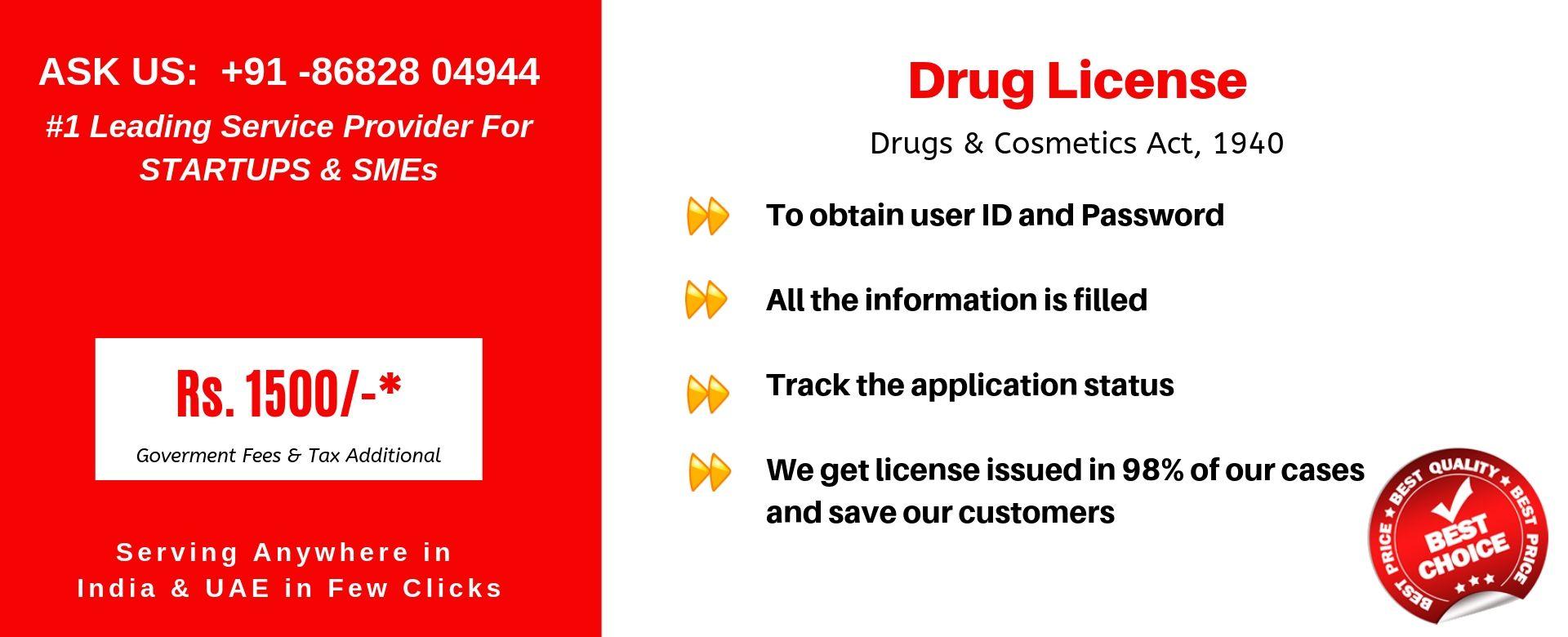 drug license in india