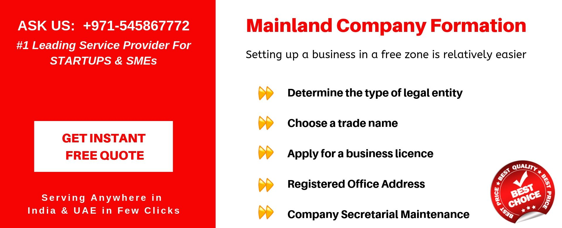 mainland company formation in uae