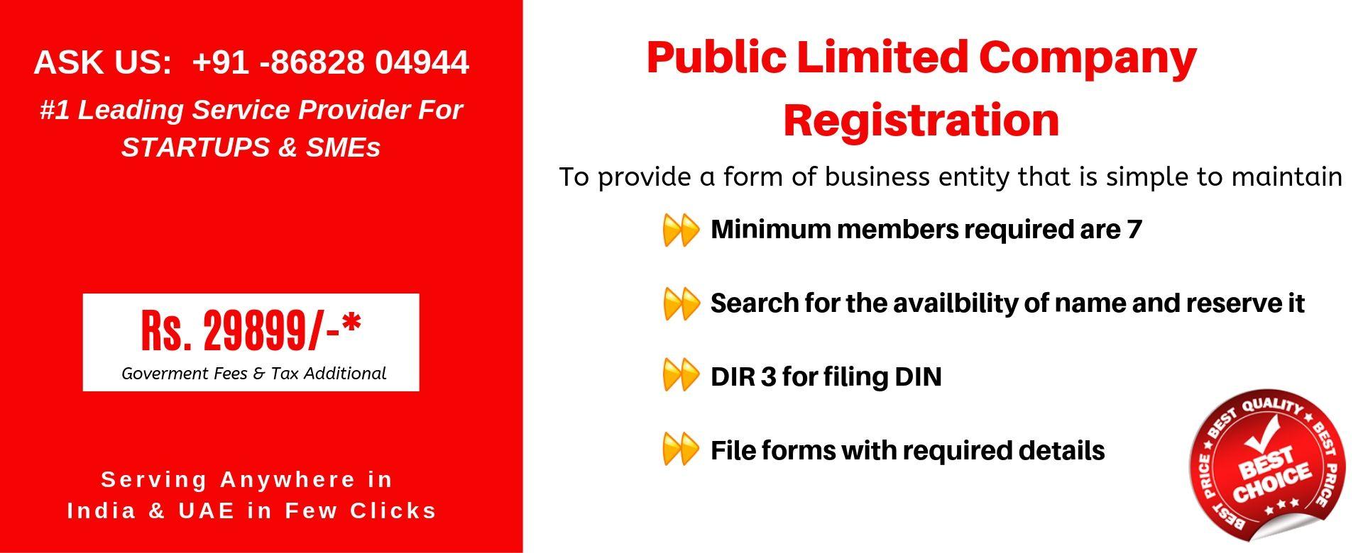 public limited company india