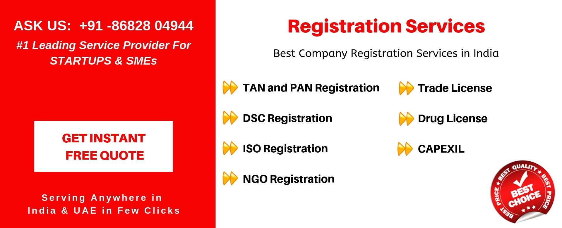 registration services in india