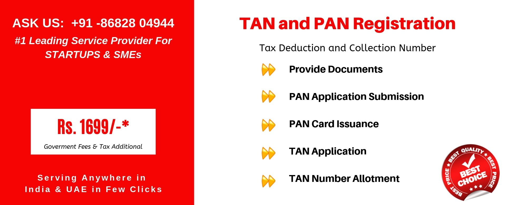 tan pan registration in india