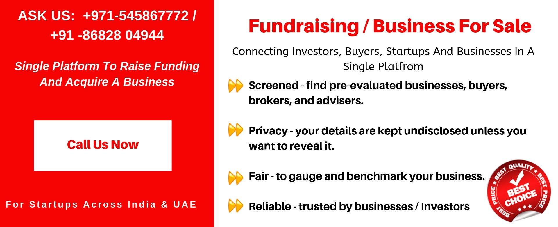 fundraising business sell